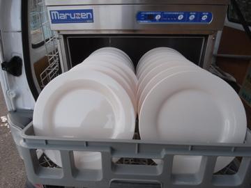 洗浄器と皿